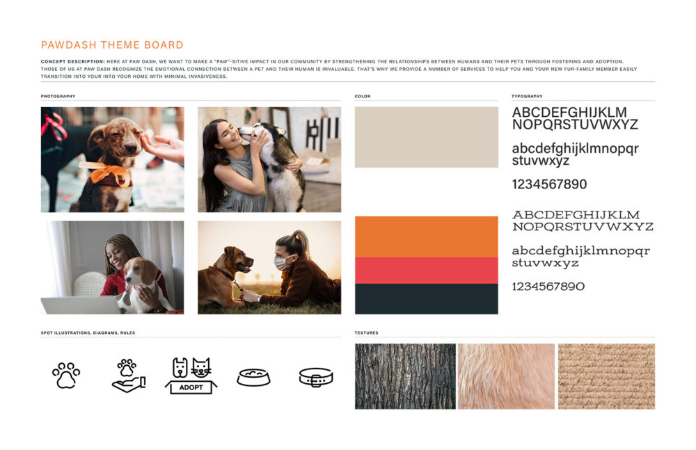 branding guidelines mood board